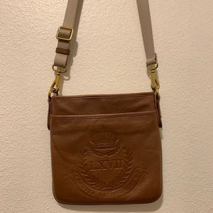 Ralph Lauren Brown Leather Crossbody Bag